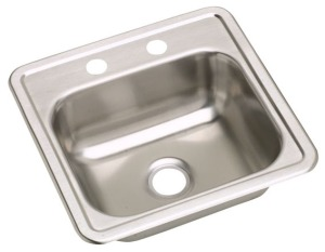 "17"" x 19"" Stainless Steel Bar Sink"