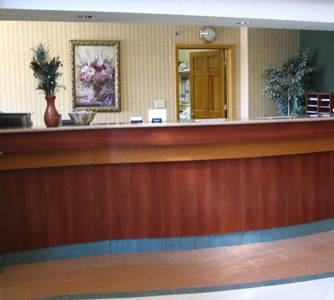 Hotel Lobby Reception Desk