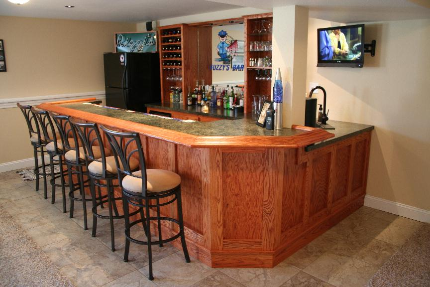 and wood home wall aquarium basement designing bar countertop pictures with ideas idea accent stylish design