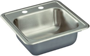 "Dayton (K-11515) - 15"" x 15"" Stainless Steel Bar Sink"
